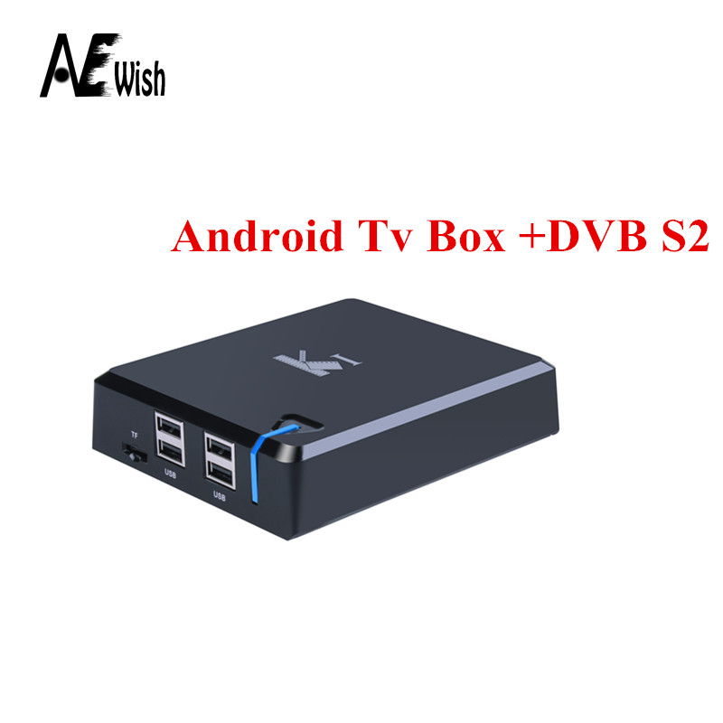 Anewish Android TV Box+DVB K1 S2 S805 Quad Core Wifi Xbmc Fully Loaded 1G/8G Satellite TV Receiver Support CCCam Newcamd Biss(China (Mainland))
