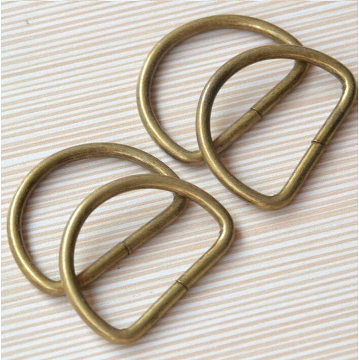 2016 20pcs Vintage Metal D ring buckles garment clothes DIY Needlework Luggage Sewing handmade Bag purse manual buttons LW0366(China (Mainland))