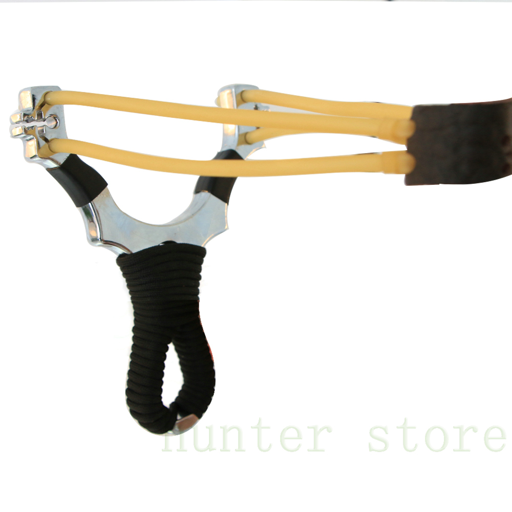 free shiping one portable outdoor shooting catapult wrist sling shot w high elasticity rubber band