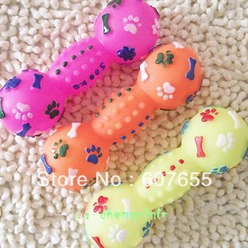 free shipping soft rubber bone pet's favorite toy,pet toy,dog toy 10pcs/lot