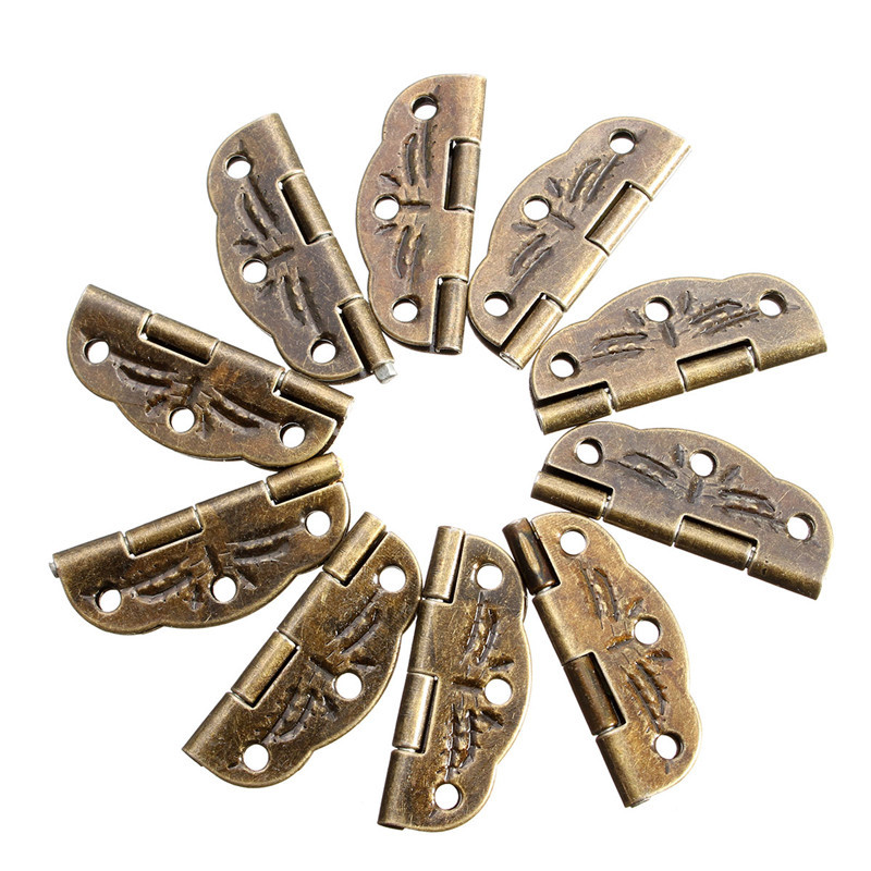 10 PCs Door Butt Hinges Alloy rotated from 0 degrees to 280 degrees Antique Bronze 30mm 22mm(China (Mainland))
