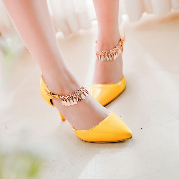New style women pumps fashion Sheet metal high heels shoes woman sapatos femininos chaussure femme femininas size 35~45