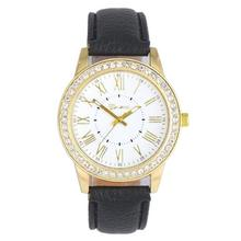 Yoner Watch Fashion Women Quartz Dial Leather Analog Wrist Watch  Round Case Diamond Watch Relojes Mujer Montre Femme