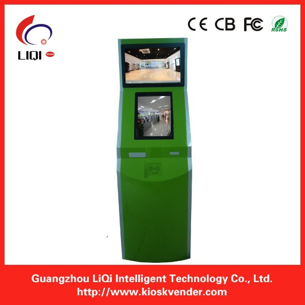 Dual screen internet kiosk for self service payment with printer(China (Mainland))