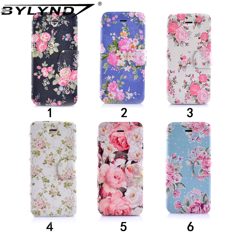 New Leather case For iphone 5c Luxury Open Window Flower case Fashion phone cover protect Flip case for Apple iphone phone cases(China (Mainland))