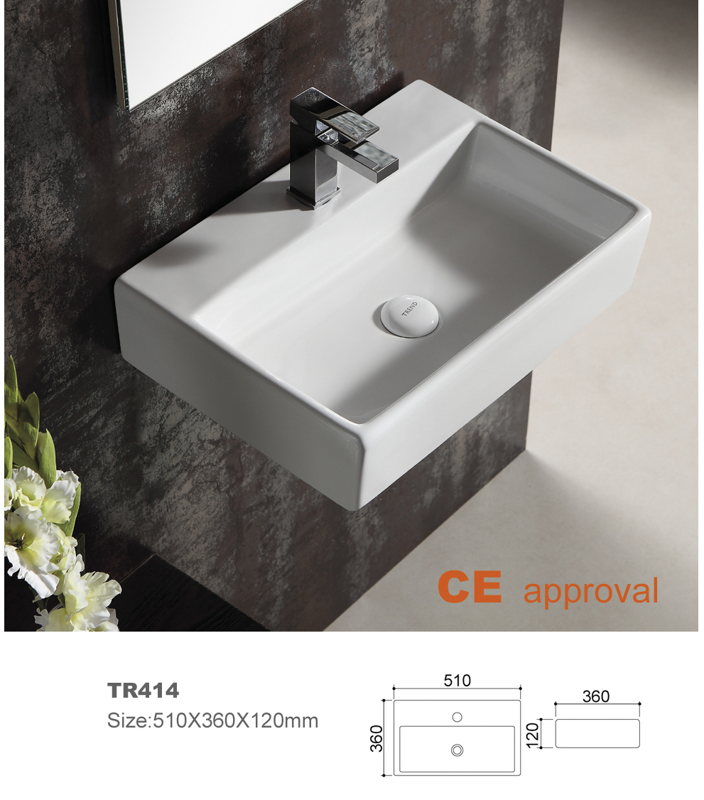 All In One Bathroom Sink And Countertop : ceramic bathroom sink countertop sinks oval single hole bathroom basin ...