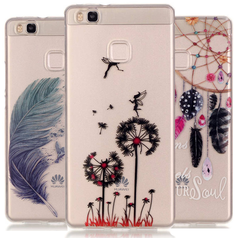 Fashion Print Ultrathin Soft TPU Cell Phone Cover Case Huawei Ascend P8 lite / P9 Lite Back Transparent Bags - Asixo Online Store store