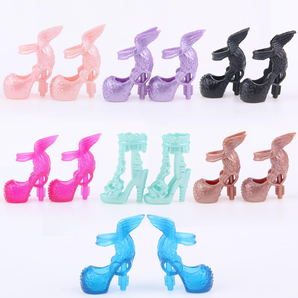 A Lot=10 pair Fashion Shoes Randomly Pick for Original Monster Hight Dolls Monster Hight Accessories High Quality Free Shipping(China (Mainland))