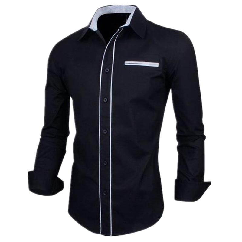 2016 Hot Sale Men Shirt Striped Long Sleeve Slim Fit Mens