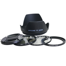 5in1 sx dc 67mm lens adapter ring kit +lens cap +lens hood+uv +cpl filter for canon SX30 SX40 SX50 HS to 67mm