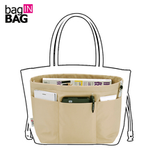 Bag in Bag Women Organizer Travel Pockets Handbag Heighten Style or Tote style Small styles 4 colors(China (Mainland))