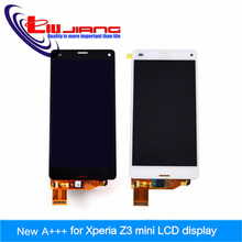 Original quality LCD Display For Sony Xperia Z3 Mini Compact D5803 D5833 Touch screen with digitizer + Adhesive Tape
