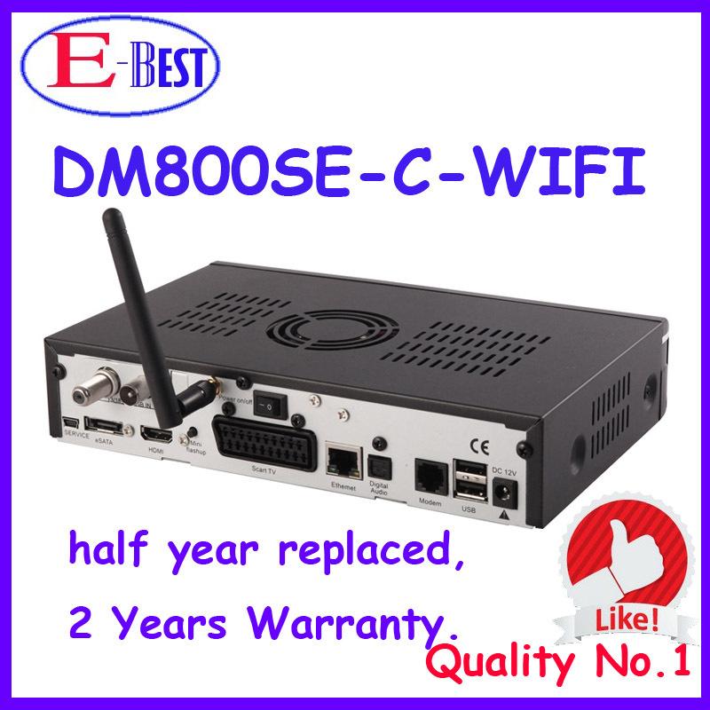 2 pc/lot dm800hd se wifi HD TV Por Cable Receptor DVB-C SIM2.10 dm800se Decodificador dm800se-c Enigma2 Linux OS Receptor de Cable(China (Mainland))