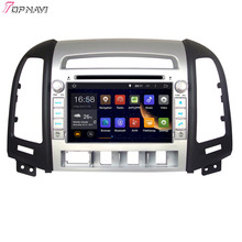 "7"" Quad Core Android 5.1 Car GPS For HYUNDAI SANTA FE 2006 2007 2008 2009 2010 2011 2012 With Stereo Radio Video Free Shipping"