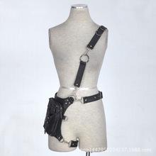 Steampunk Waist bag gothic leather leg holster
