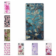 New 3D Relief Capa Floral Shell Case Sony Xperia Z3 Compact Z3 Mini Ultrathin Soft TPU Back Case Cover Silion Case Fundas