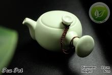 9pcs Rare China Song Ding Yao Porcelain Teaset Chinese Ding Kiln Sky Cyan Teapot Justice Cup