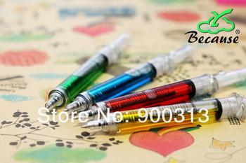 (Min order$10) best Christmas gift,crazy hot nurse shall syringe / needle pen / ball pen,Korea Stationery,wholesale 1lot/10pcs