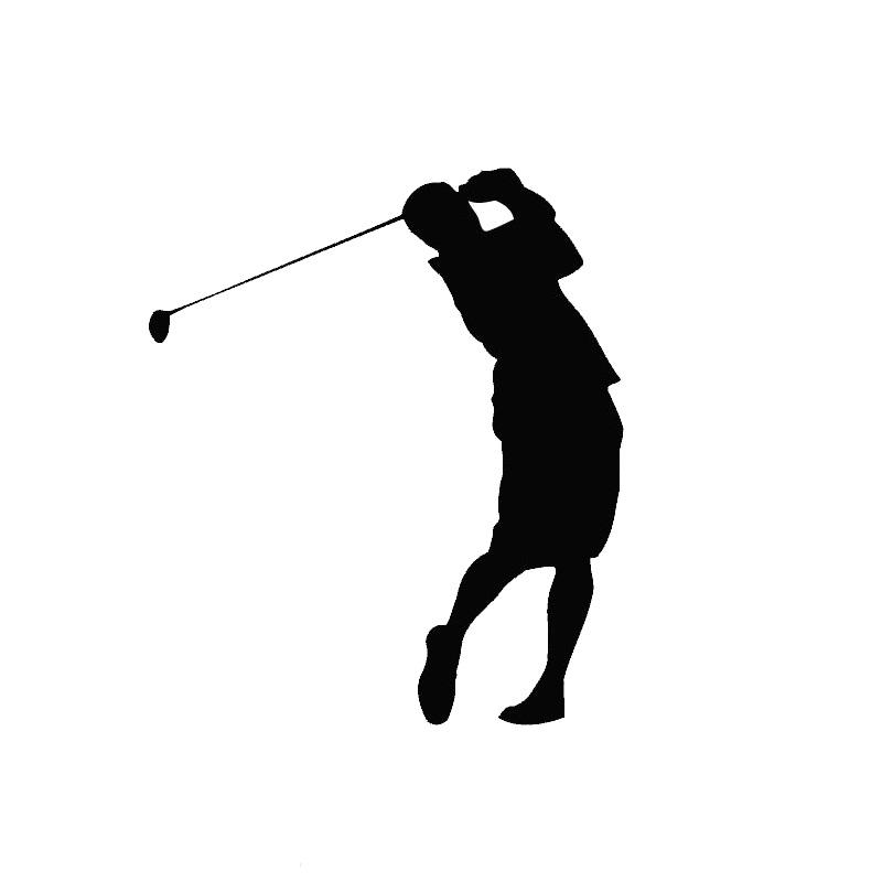 11.4*13.4CM The Stylish Golf Car Stickers Cartoon Pattern Car Decorative Accessories Black/Silver C7-0324(China (Mainland))