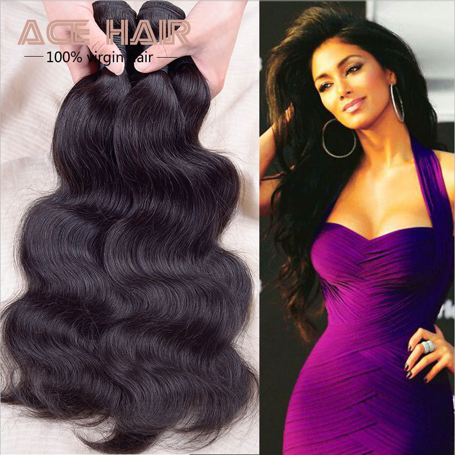 Queen Hair Products Peruvian Body Wave Peruvian Virgin Hair Body Wave 4pcs,Natural Black Hair Weave 8-30 Remy Human Hair Bundles(China (Mainland))
