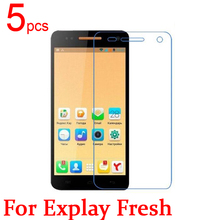 5pcs Ultra Clear LCD Screen Protector Film Cover For Explay Fresh Protector Film  +  cloth Free Shipping