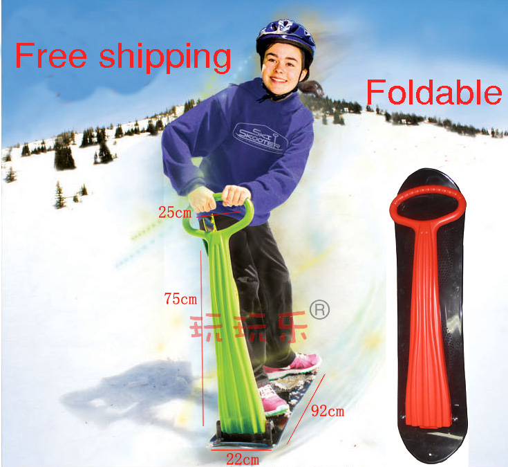 Children's Snow Scooter Skiing Board Snow Tube Sleds Newest ski car fun ice snowboard sledge(China (Mainland))