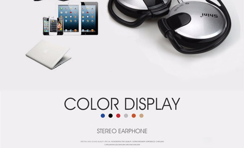 3.5mm Stereo Headphone Subwoofer Earphone Ear Hook Headset For Mobile Phone Headset Factory Price Wholesale Free Shipping