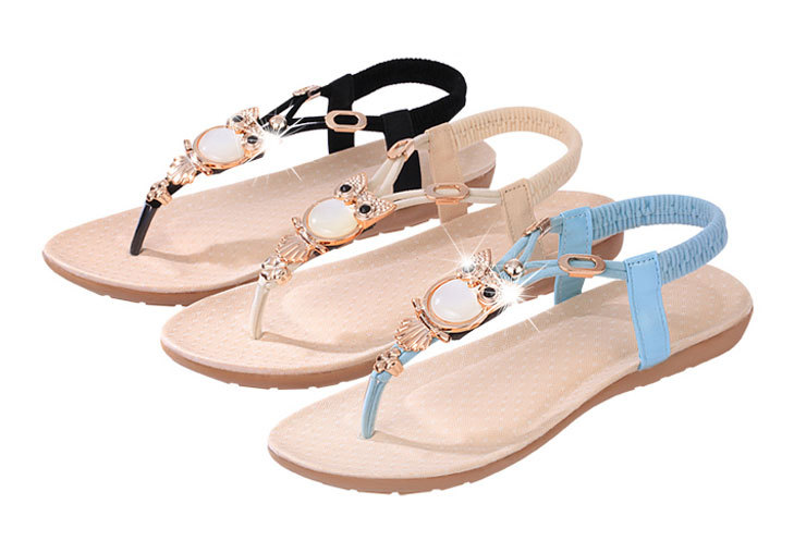 2015 sandales mode plat femmes chaussures casual coins pantoufles flip flop sandales dans femmes. Black Bedroom Furniture Sets. Home Design Ideas