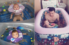 New Baby Swim Ring Adjustable double protection swimming laps Baby neck ring Lifebuoy for baby(China (Mainland))