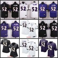 100% Elite men Baltimore Ravens WOMEN YOUTH KIDS HOT SALE NEW FAST SHIPPING 52 Ray Lewis(China (Mainland))