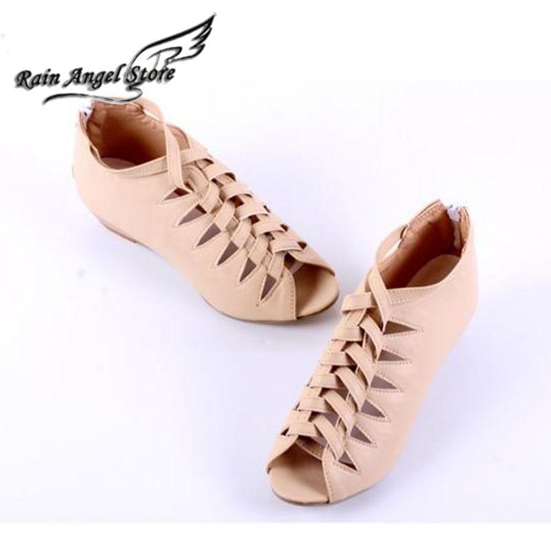 2015 Women Summer Wedges Sandals Plus Size 43 Open Toe Woven Hollow Cross Straps Roman Zipper 4 Colors - Rain Angel store