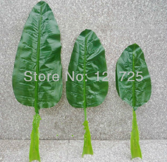 Artificial banana leaves home decoration artificial silk for Artificial banana leaves decoration