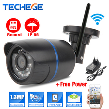 Techege 720P WIFI IP Camera Waterproof HD Network 1.0MP wifi camera day nignt vision In/Outdoor ip camera W free power adapter(China (Mainland))