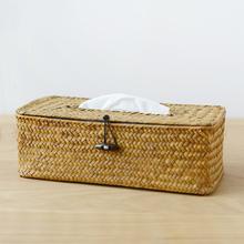 Straw Tissue Box Rectangular Shape 27*12*9CM(China (Mainland))