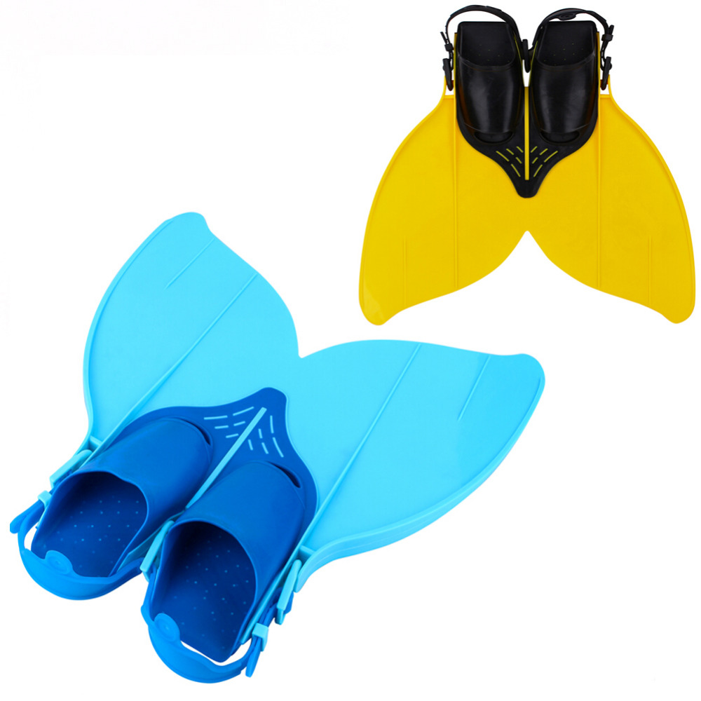 Free Swimming Fins Costume Vave Training Flipper Mermaid Shoes Scuba Snornt Diving Feet Tail Tail Monofin For Teens Kids Youth(China (Mainland))