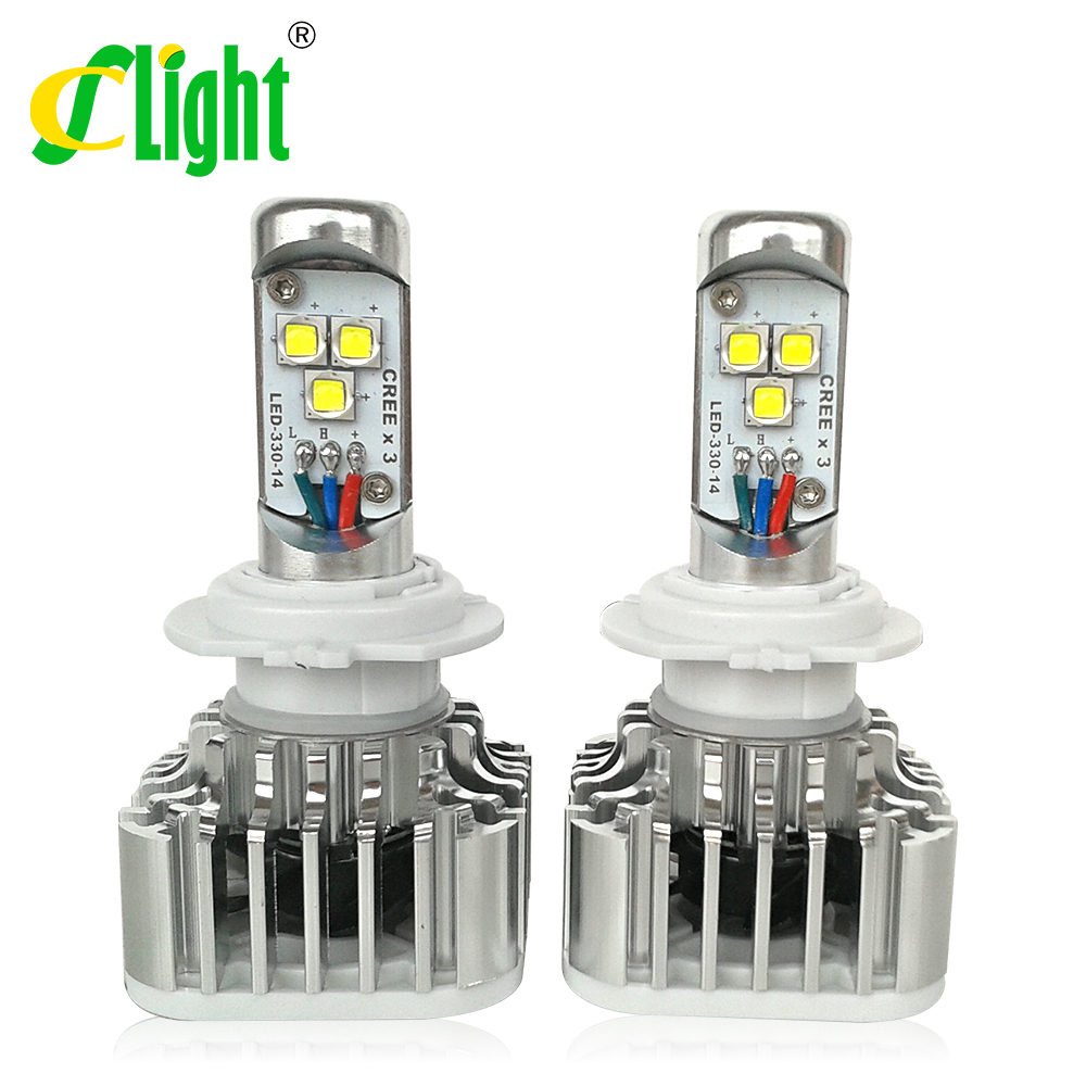 2x new product for 2015 high quality no defective CREE car headlight light H1 H4 High Low H7 H8 H11 9005 9005 HB3 HB4(China (Mainland))