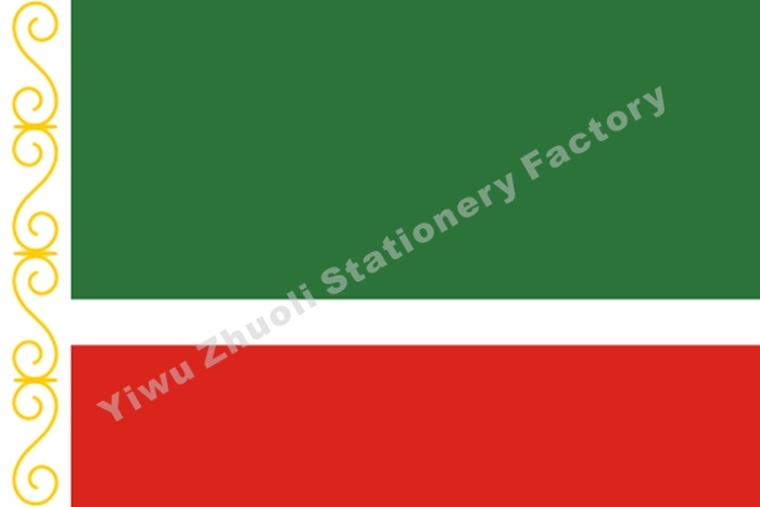 Flag Of The Chechen Republic 150X90cm (3x5FT) 120g 100D Polyester Double Stitched High Quality Free Shipping(China (Mainland))