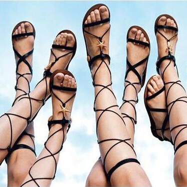 2015 Summer Sandals Lace Up Cross-tied Strappy Sandals Long Gladiator Flat Sandals Women<br><br>Aliexpress