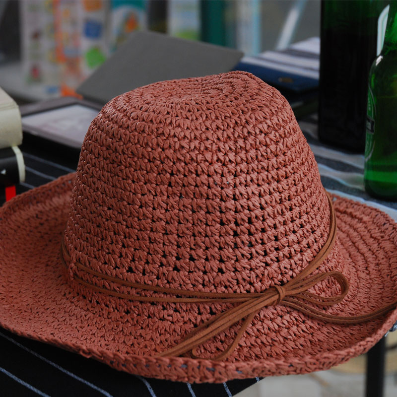 Fishing Summer Straw Hats For Women Floppy Casual Design Qualified Paper Knitted Visor Sunhat Vacation Necessity 2016031409 u4(China (Mainland))