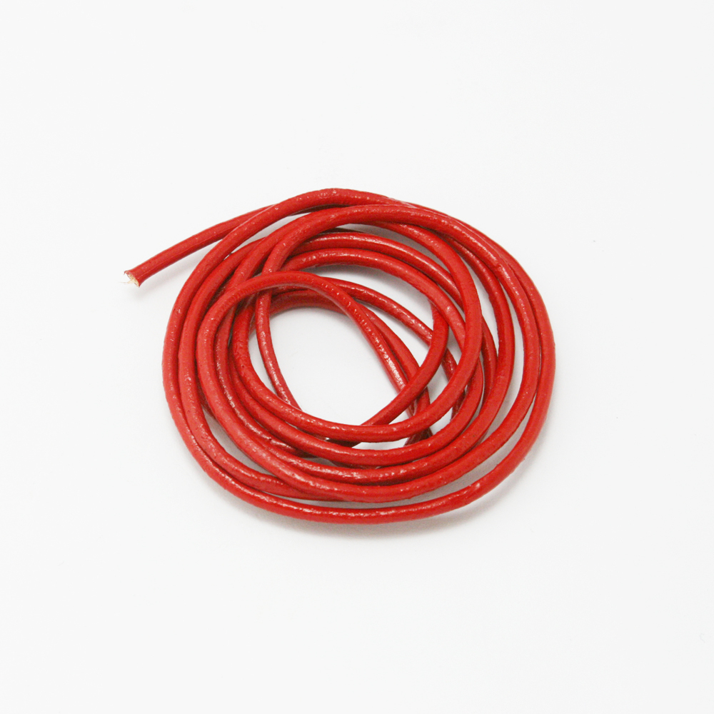 High Quality 2MM Genuine Leather Cord 50m/lot Red color string Craft for DIY Jewelry Making DH-FXN003-03(China (Mainland))