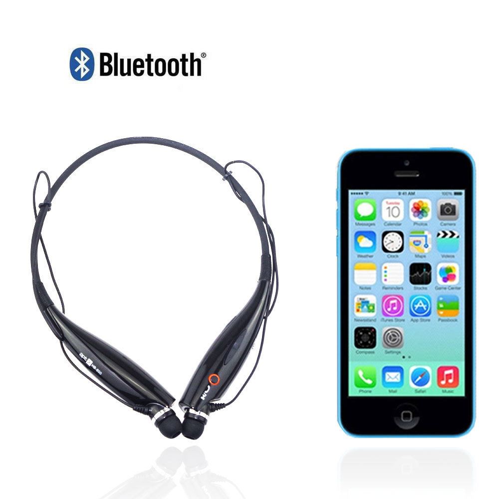 HB-800 Wireless Bluetooth Headset Headphone Neckband Style HandFree Music Stereo Earphone Wth Mic For iphone Samsung HTC(China (Mainland))