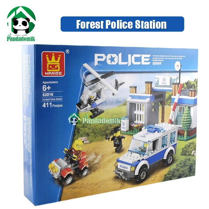 Building Blocks Compatible with lego 411 pcs Forest Police Station / learning &amp; Education Toys / Brinquedos scale models<br><br>Aliexpress