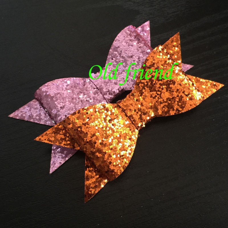 2015 New Sytle Kids Summer Glitter Hair Bows With Clips On Back 24pcs/lot  13 color IN STOCK Free ShippingОдежда и ак�е��уары<br><br><br>Aliexpress