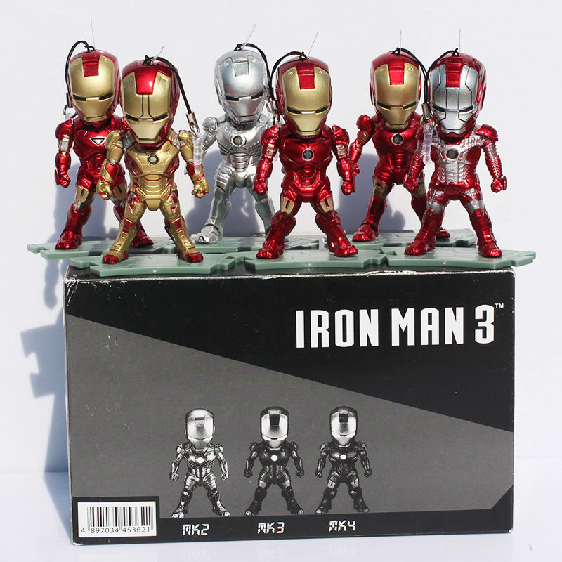 Iron Man Eye Light Function Mark PVC Action Figure Collectible Model Toy 6pcs/set - Emgrand Technology Co., Ltd. store