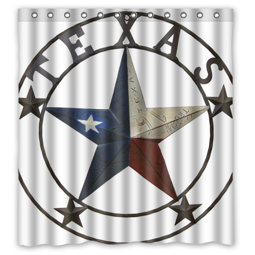 "ANY Western Texas Star Custom Shower Curtain 66 ""x72"" Waterproof Fabric Shower Curtain for Bathroom(China (Mainland))"