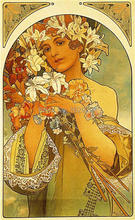 High quality,Flower, 1897 ,Alphonse Mucha oil painting canvas,Hand-painted,Portrait Modern Art Reproduction,