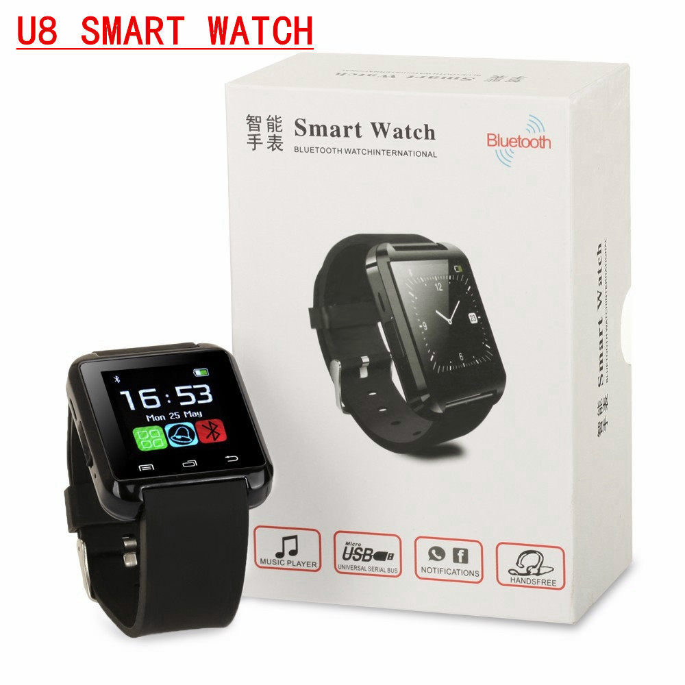 Reloje inteligentes 2016 HOT Bluetooth smart watch U8 clock Wrist smartWatch for 4s 5s 6s Note4/5 HTC LG Xiaomi LG Android IOS(China (Mainland))