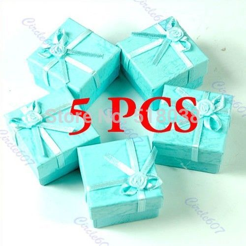 G104 Newest 2014 5 Pcs/lot Jewellery Jewelry Gift Box Case for Ring Square Green Free Shipping(China (Mainland))