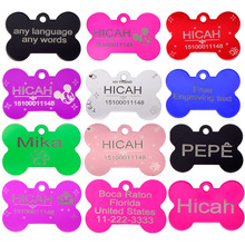 2pcs/lot Free Engraving  Personalized Pet tag identification customized dog tag  the name phone any text  for the pet id tag(China (Mainland))