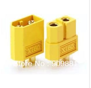 Brand New 10Pairs/lot XT60 Male and Female Bullet Connectors Plugs For RC Battery Freeshipping(China (Mainland))